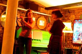 """Anna playing """"Statik"""" with Ruth Molins at The Bike Shed, Exeter"""