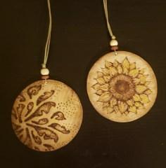 Wood burning - ornaments