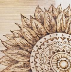 Wood burning - sunflower