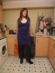 Anna Secret Poet, brown hair blue dress