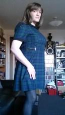 Anna Secret Poet Green Plaid Dress 2