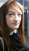 Anna Secret Poet train selfie