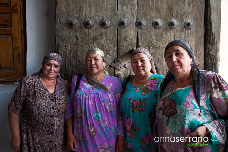 Ladies in Khiva, Uzbekistan