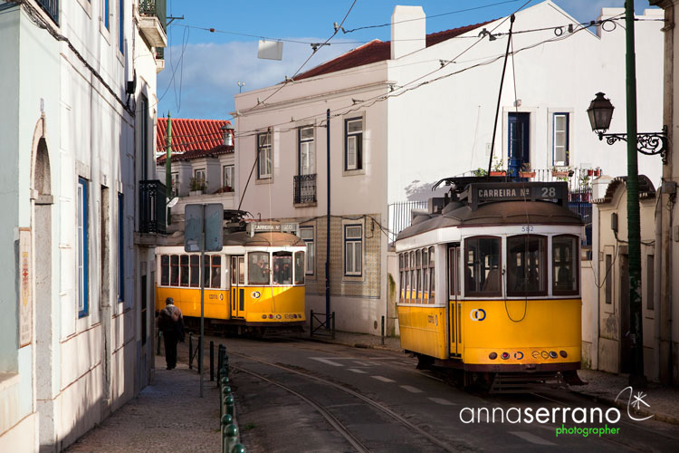 Portugal, Lisbon, Lisboa, Alfama neighbourghood, tramway