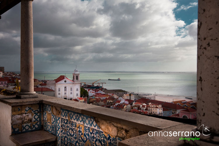 Portugal, Lisbon, Lisboa, Alfama neighbourghood and Tagus River