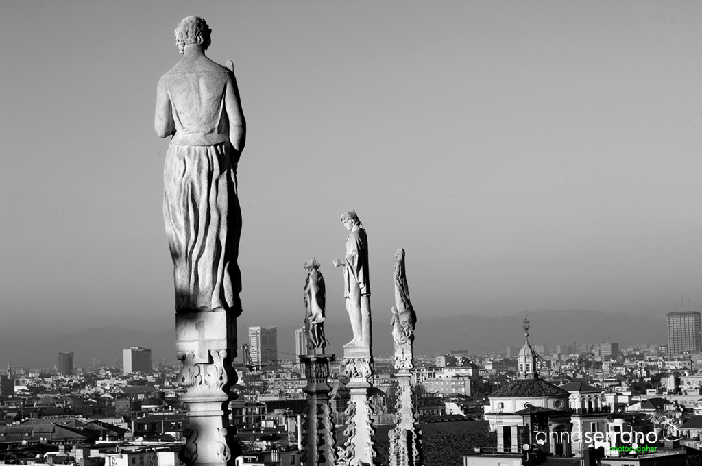 Italy, Milano, Duomo, Cathedral's roof