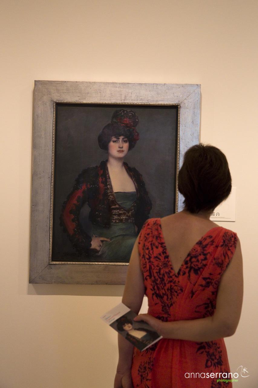Spain, Andalousie, Malaga, Thyssen Museum, Ramon Casas painting, Julia