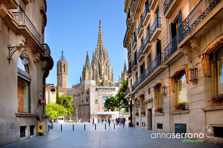 Spain, Catalonia, Barcelona, Gothic neighborhood, Barri Gotic, Barrio Gotico