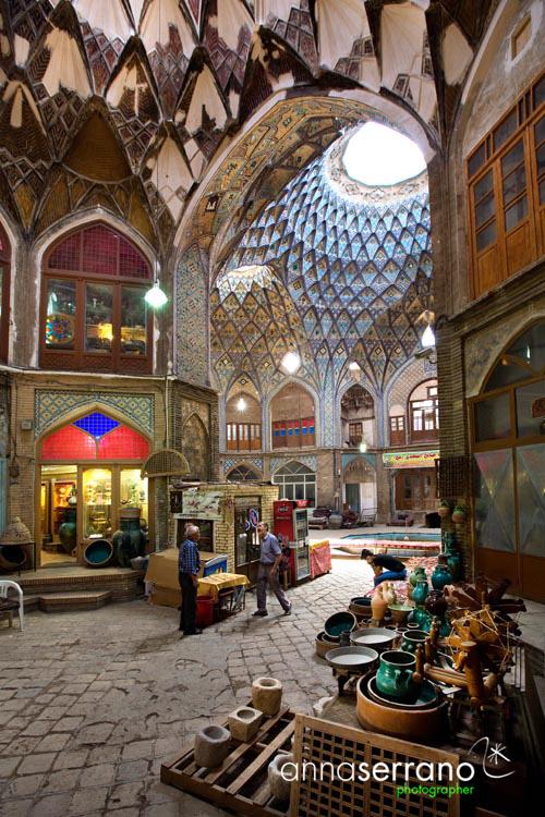 Iran, Isfahan Province, Kashan, Bazaar