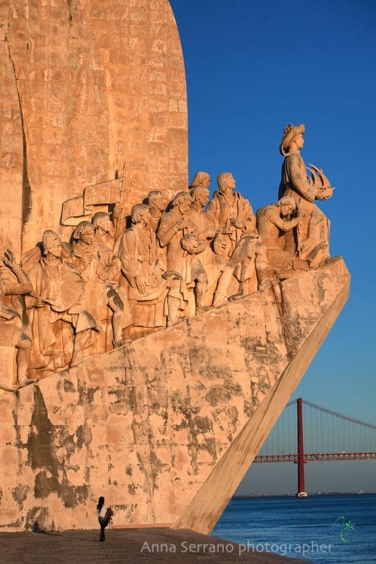 Portugal, Lisbon, Padrao dos Descobrimentos, Ponte 25 Avril bridge