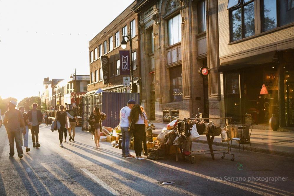 Montreal, Le Plateau, Rue Saint Laurent