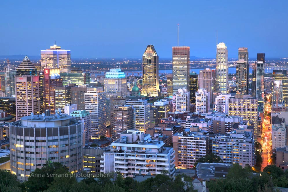 Montreal, Skyline from Mont Royal