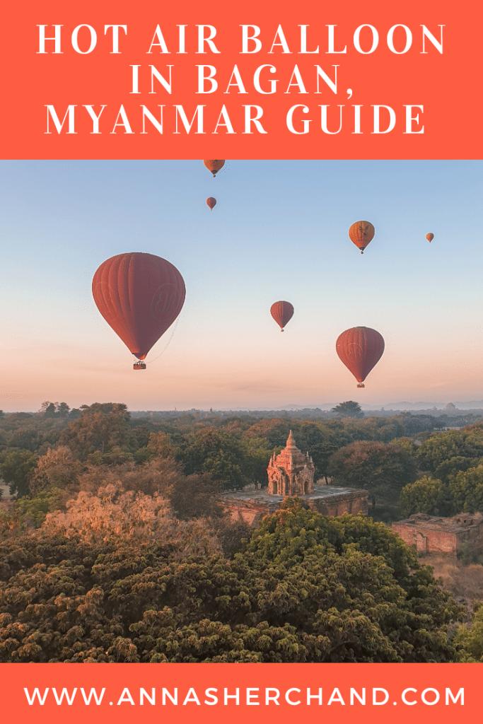Hot air balloon Bagan