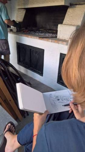 anna-sircova-sketching-cooking