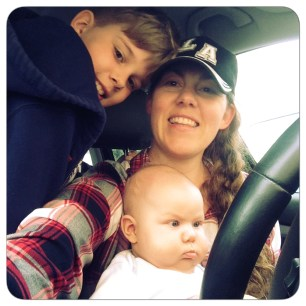 in car with boys
