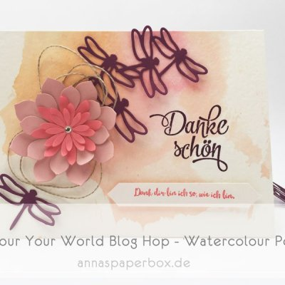 Colour Your World Blog Hop – Watercolour Pond