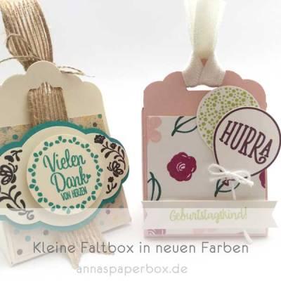 Kleine Faltbox in neuen Farben