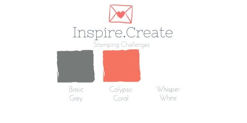 Inspire Create Challenge - Colours Basic Grey, calypso Coral, Whisper White