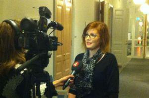 TV4 Stockholm intervjuar Anna Starbrink