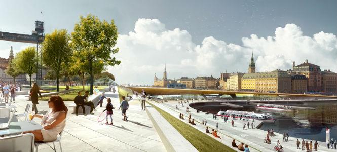 Nya Slussen. Bild: Foster + Partners och Berg Arkitektkontor