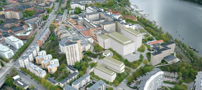 """Södersjukhusets tillbyggnad """"Västläge"""""""