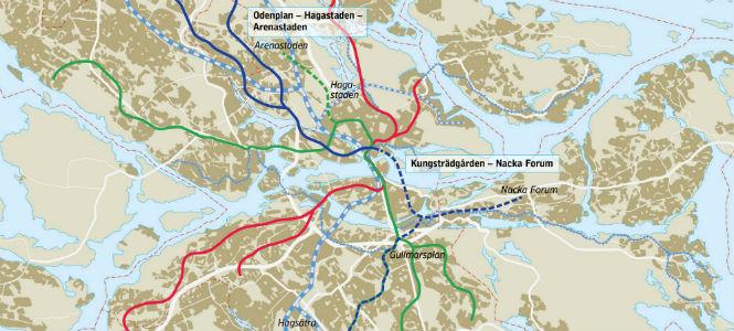Stockholms nya tunnelbanekarta