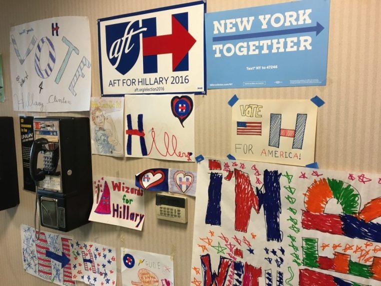Kampanjen för Clinton präglades av personligt engagemang hos många gräsrötter.