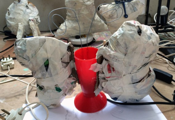 מנורה עיסת נייר-6
