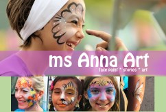 Ms Anna Art Facepainting for Fairs, Events, and Birthdays- msAnnaArt.com