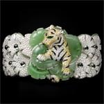 bracciale verde giada animalier Cartier