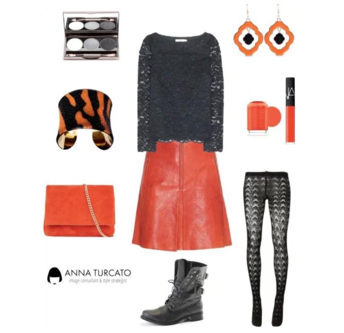 Come abbinare Cadmium Orange e Stormy Weather by annaturcato featuring a bangle cuff bracelet