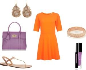 How to orange with violet di annaturcato contenente flat shoes