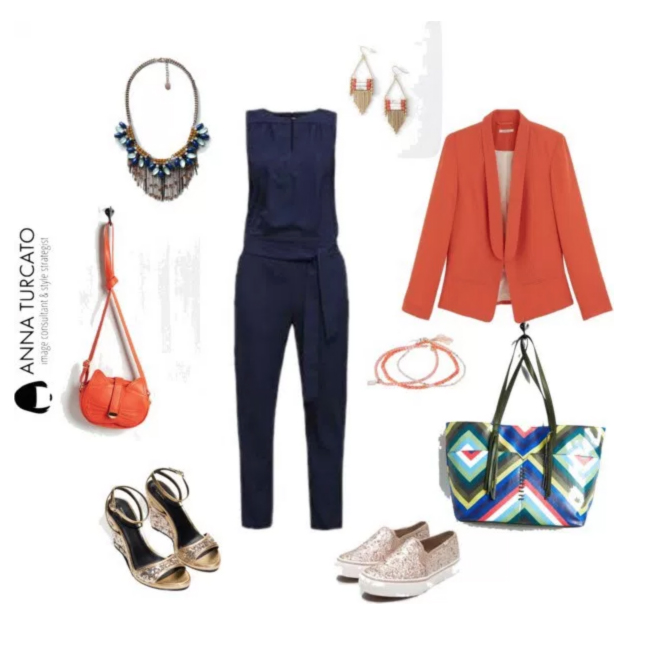 The jumpsuit by annaturcato featuring a red vest