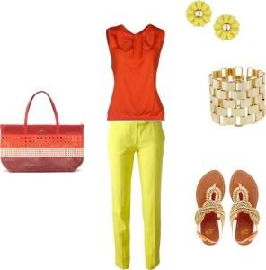 How to orange with yellow di annaturcato contenente cotton shirts