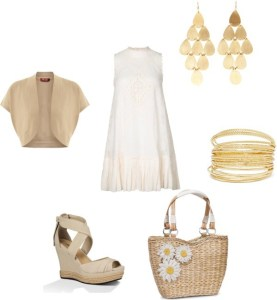 How to: the white dress di annaturcato contenente gold jewelry