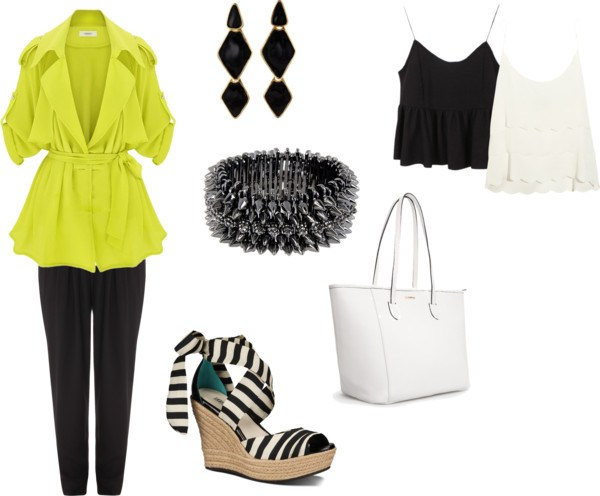 Summer lady by annaturcato featuring a yellow trench coat