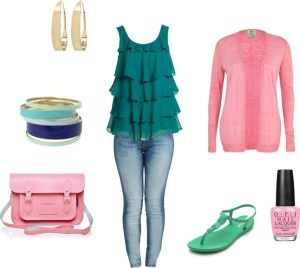 The summer Jeans by annaturcato featuring a pink top