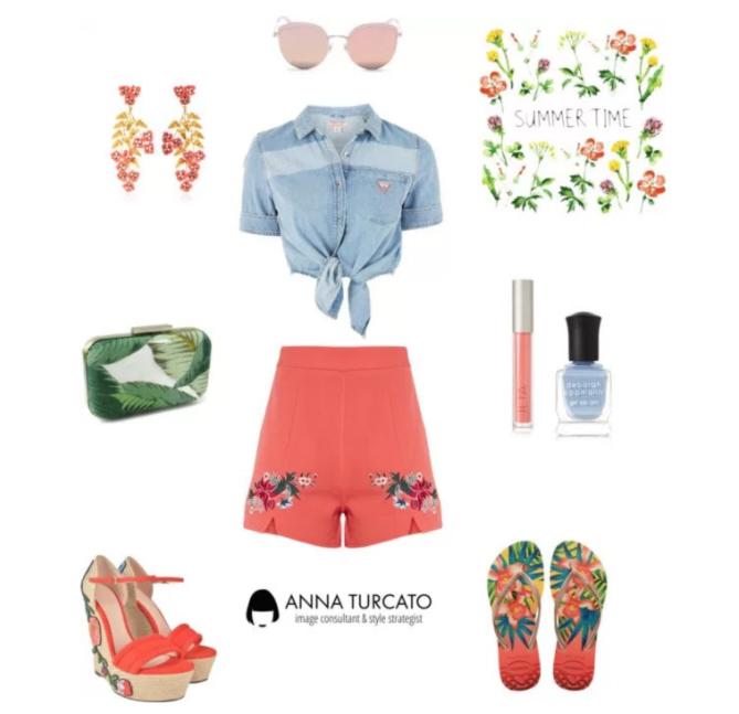 Summer Lady di annaturcato contenente ankle wrap shoes