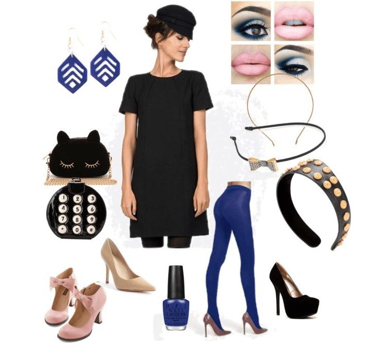 Black and blue lady di annaturcato contenente pointed toe pumps