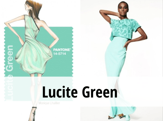 Lucite Green colore tendenza primavera