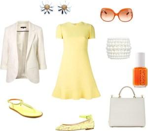 Come indossare il Custard di annaturcato contenente white handbags