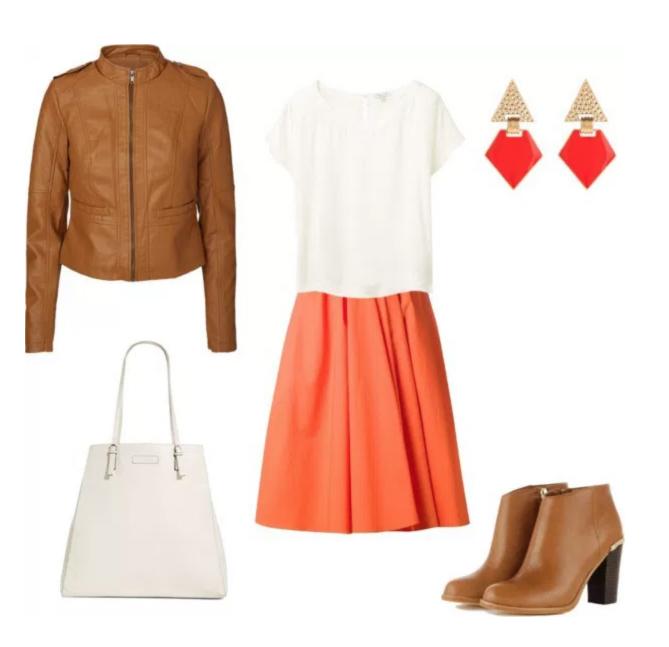 Come indossare Tangerine di annaturcato contenente faux leather handbags