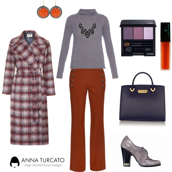 Come abbinare Amethyst Orchid e Cadmium Orange by annaturcato featuring a statement necklace