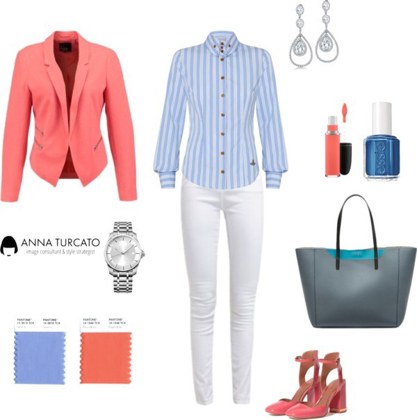 Spring Office look by annaturcato featuring an essie nail polish