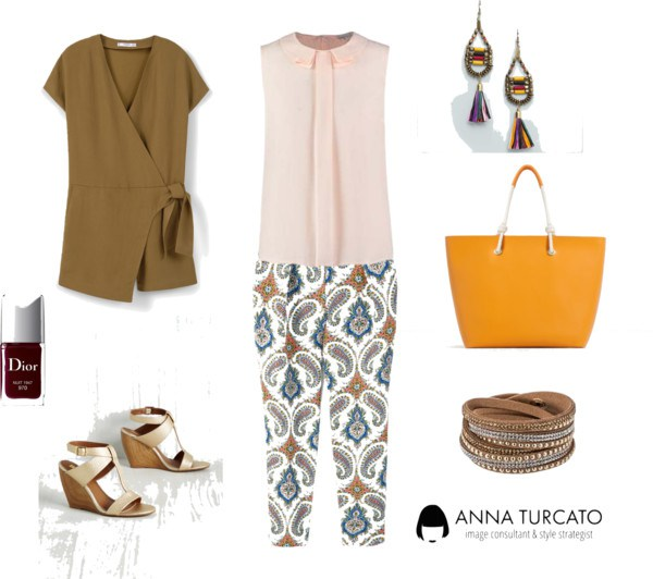 Autumn girl in summer by annaturcato featuring a summer outfit