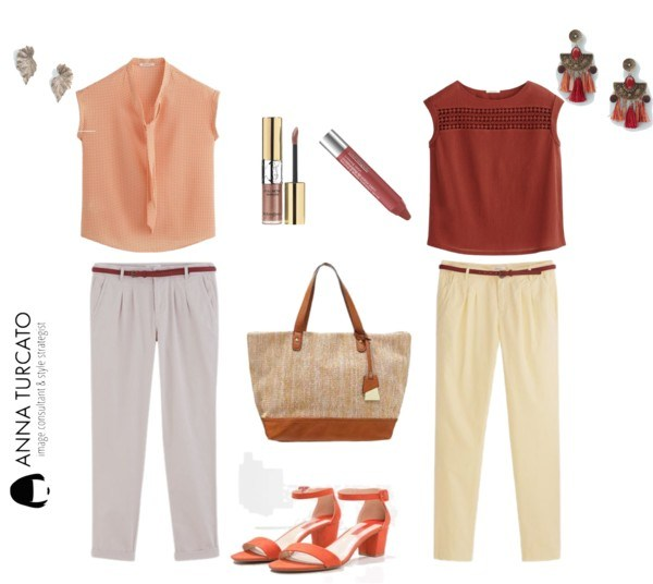 Autumn girl in summer by annaturcato featuring a chino trousers