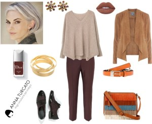 Autumn Lady Grey by annaturcato featuring a cashmere sweater