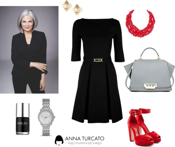 Lady in Grey di annaturcato contenente red shoes