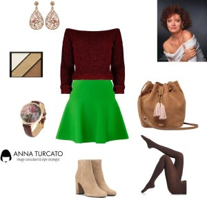 Greenery for Autumn by annaturcato featuring a green circle skirt