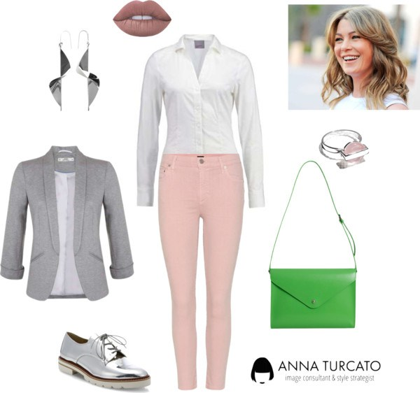 Greenery for Summer Girl by annaturcato featuring a ponte knit blazer